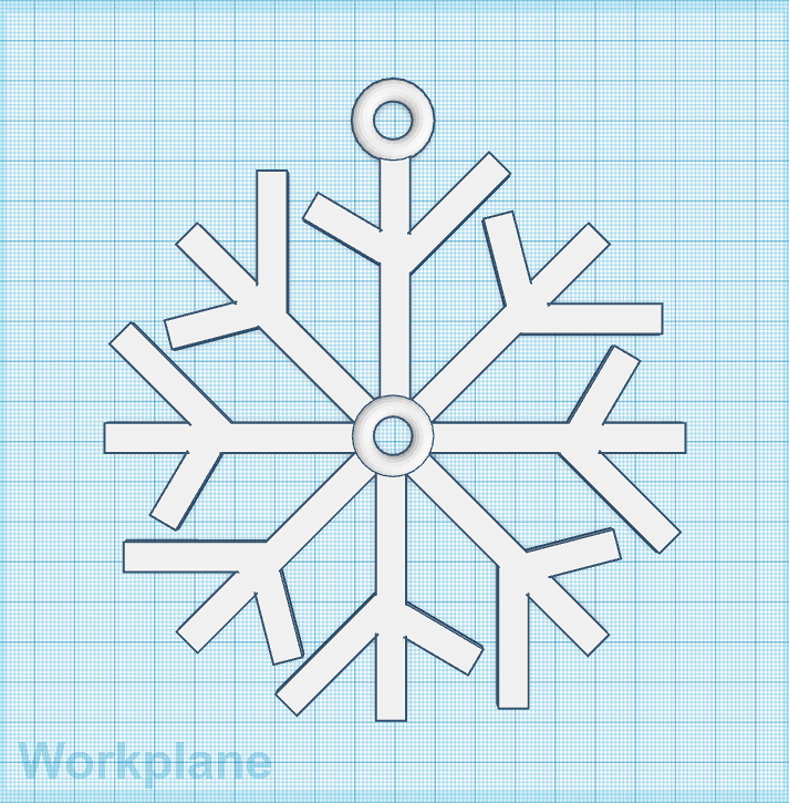 Make a Snowflake with TinkerCAD